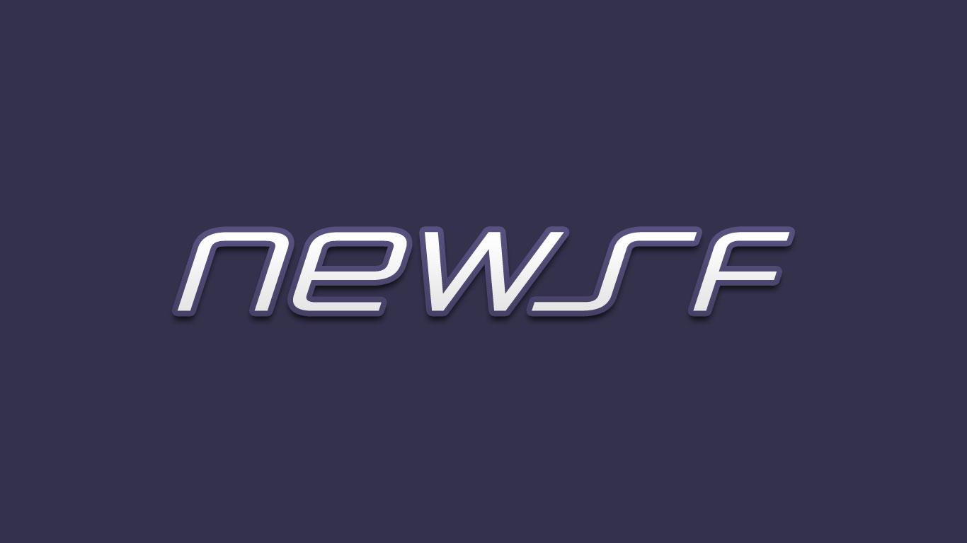 Logo for the Newsf.com domain name
