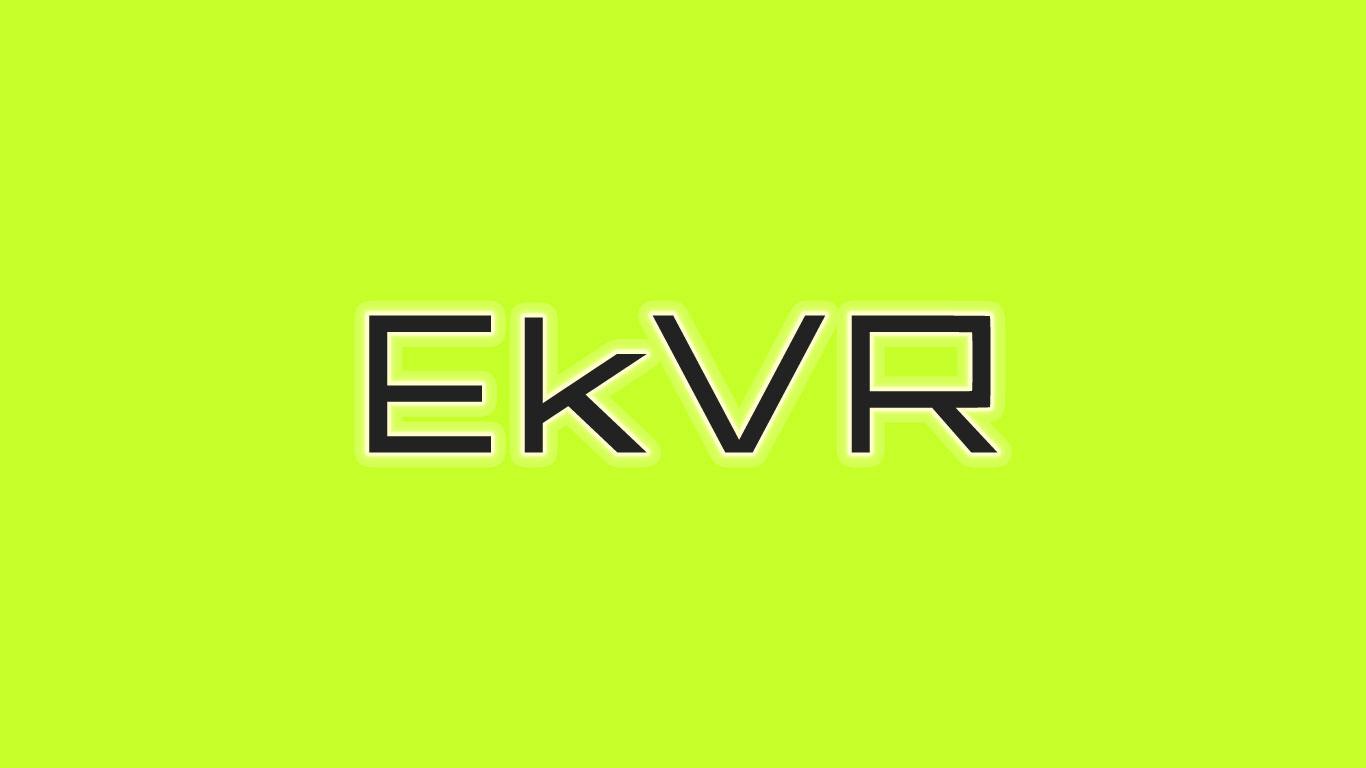 Logo for the EkVR.com domain name
