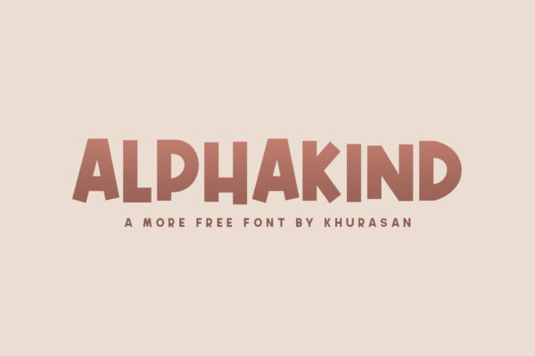 Logo of the Alphakind font