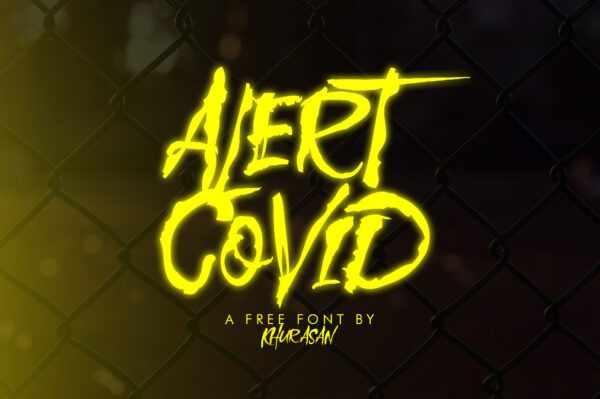 Logo of the Alert Covid font