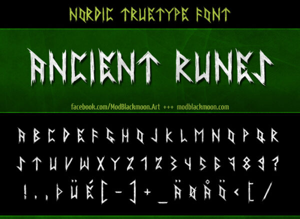 Logo of the Ancient Runes font