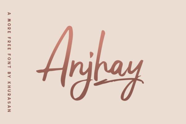 Logo of the Anjhay font