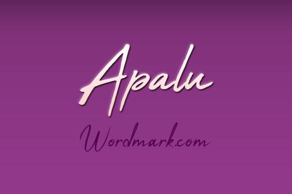 Logo of the Apalu font