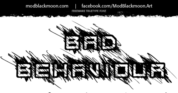 Logo of the Bad Behaviour font