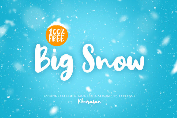 Logo of the Big Snow font