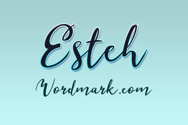 Logo of the Esteh font