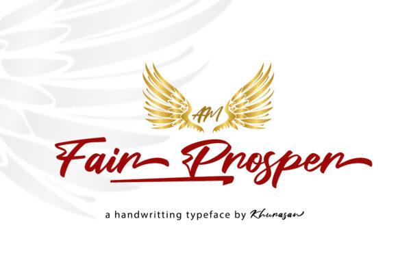 Logo of the Fair Prosper font