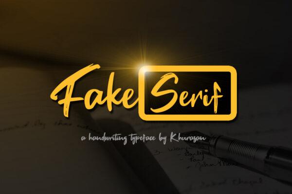 Logo of the Fake Serif font