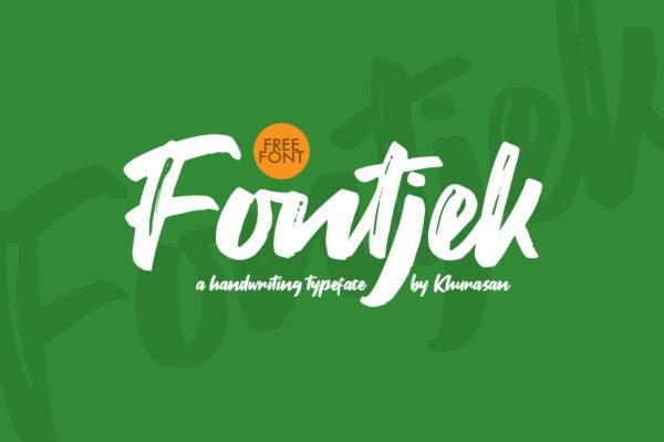 Logo of the Fontjek font