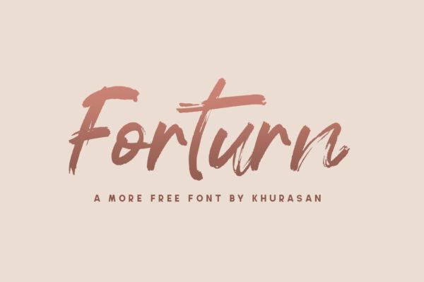 Logo of the Forturn font