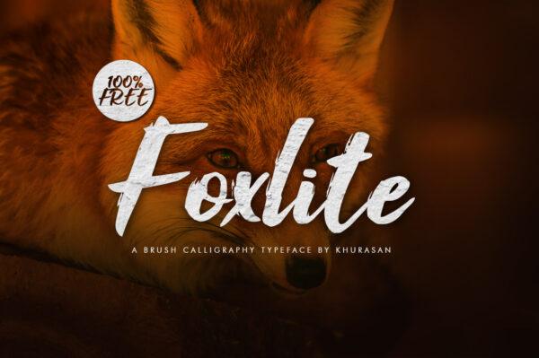 Logo of the Foxlite Script font