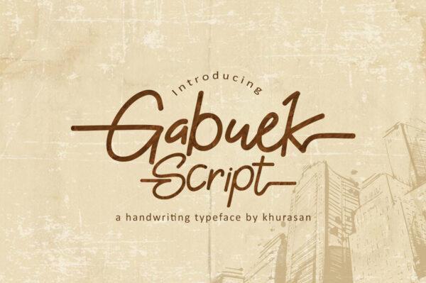 Logo of the Gabuek Script font