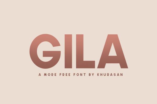 Logo of the Gila font