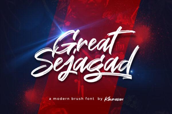 Logo of the Great Sejagad font
