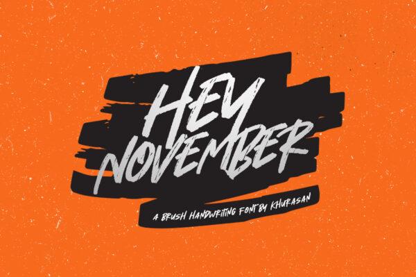 Logo of the Hey November font