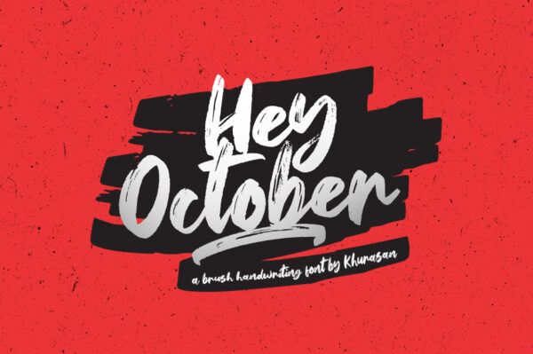 Logo of the Hey October font
