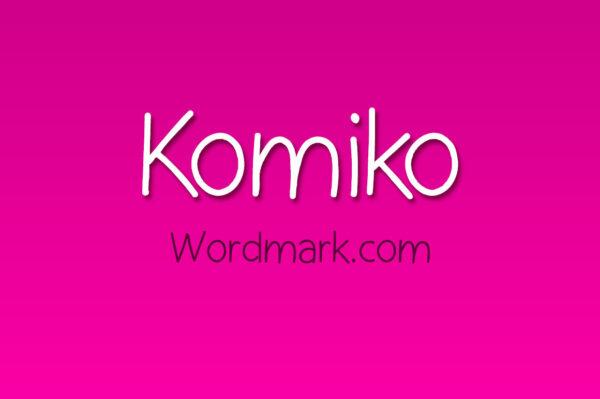 Logo of the Komiko font