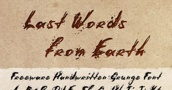 Logo of the Last Words from Earth font