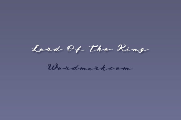 Logo of the Lord of the king font