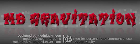 Logo of the MB Gravitation font