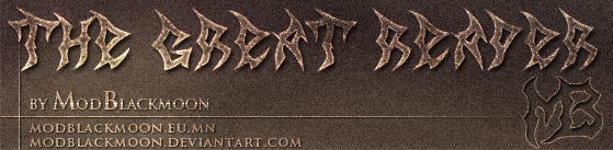 Logo of the MB The Great Reaper font