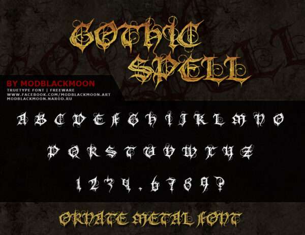 Logo of the MB Gothic Spell font