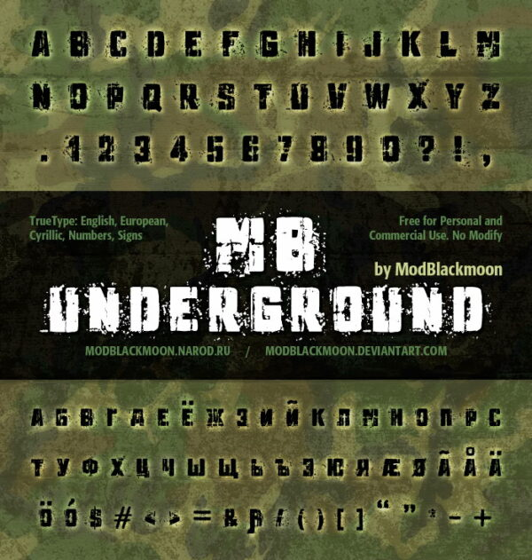 Logo of the MB Underground font