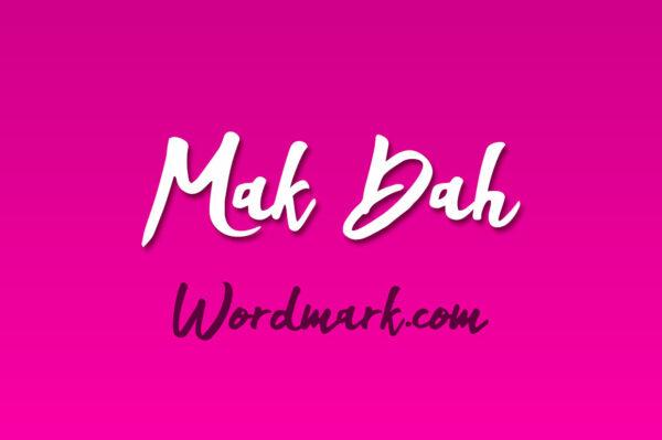 Logo of the Mak Dah font