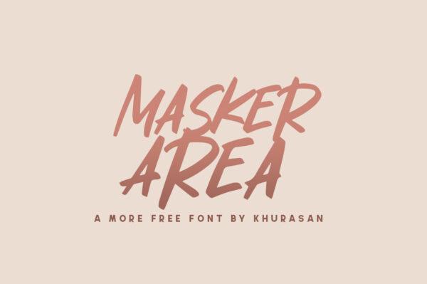 Logo of the Masker Area font