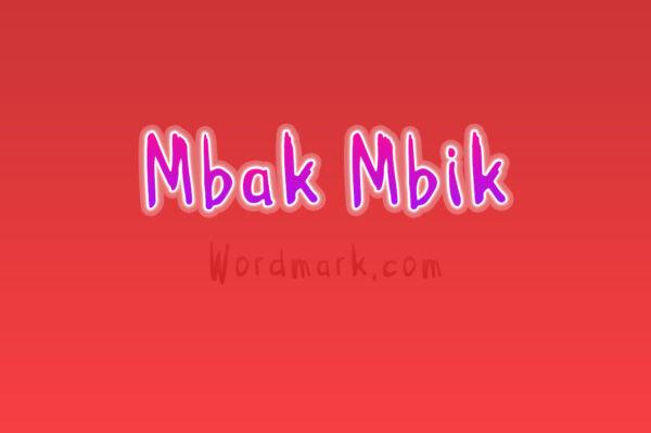 Logo of the Mbak-Mbik font