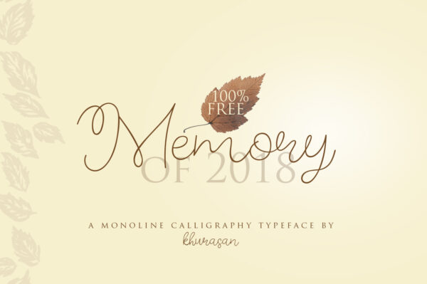 Logo of the Memory of 2018 font