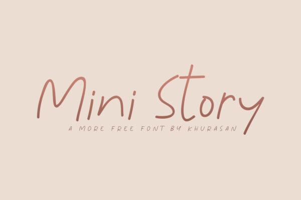 Logo of the Mini Story font
