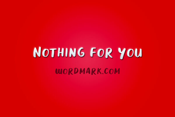 Logo of the Nothing For You font
