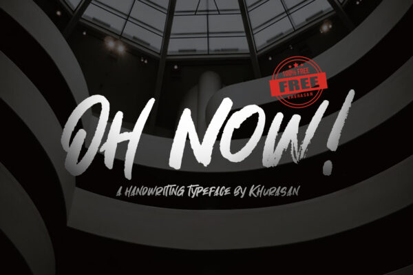 Logo of the Oh Now font