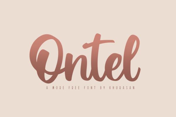 Logo of the Ontel font