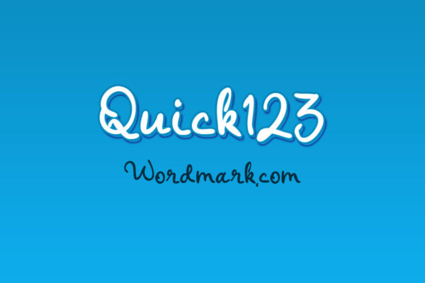 Logo of the Quick 123 font