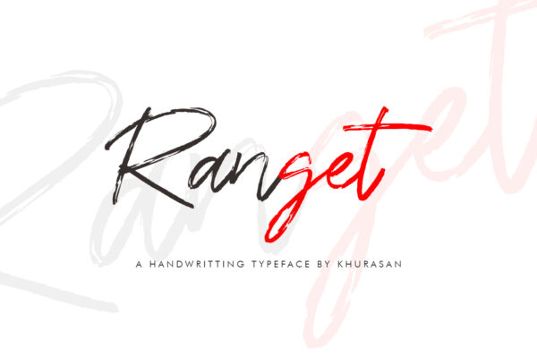 Logo of the Ranget font