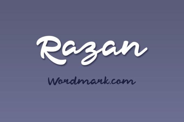 Logo of the Razan Script font