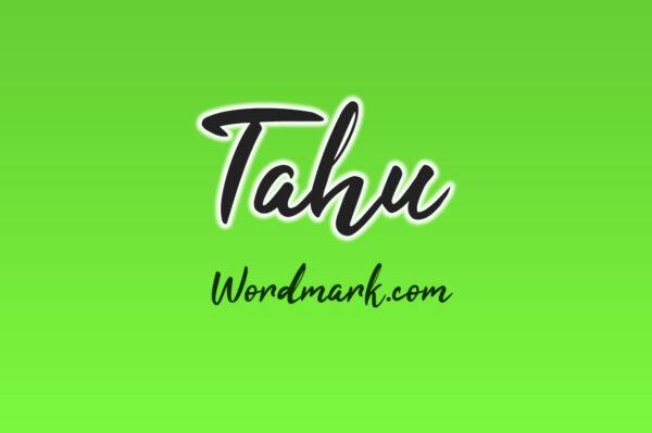 Logo of the Tahu font