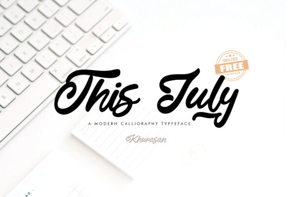 Logo of the This July font